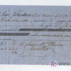 Documentos bancarios: LETRA DE CAMBIO POR 6.000 REALES DE VELLÓN. SAN SEBASTIAN 1857. PAGADERA EN SEVILLA.. Lote 18150518