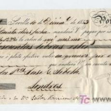 Documentos bancarios: LETRA DE CAMBIO POR 200 LIBRAS ESTERLINAS. SEVILLA 1853. PAGADERA EN LONDRES.. Lote 18150542