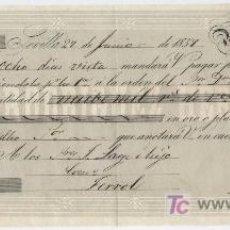 Documentos bancarios: LETRA DE CAMBIO POR 9.000 REALES DE VELLÓN. SEVILLA 1857. PAGADERA EN FERROL. MEMBRETE. Lote 18150648
