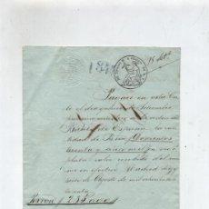 Documentos bancarios: CARTA DE PAGO AL BANCO DE ESPAÑA POR 235.000 REALES DE VELLÓN. MADRID 1860.PAPEL DEL. Lote 18150705
