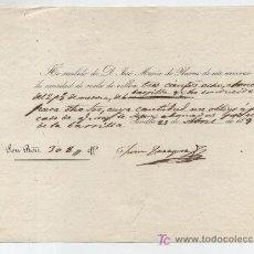 Documentos bancarios: RECIBO DE COBRO POR 308 REALES DE VELLÓN. AFAVOR DEL CONDE DE IBARRA. SEVILLA 1850.. Lote 18211828