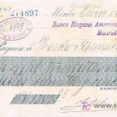 Documentos bancarios: LETRA DE CAMBIO, BANCO NACIONAL DE MÉXICO, A LA ORDEN DE POSADA Y GONZÁLEZ, MÉXICO 1.911. Lote 46607163