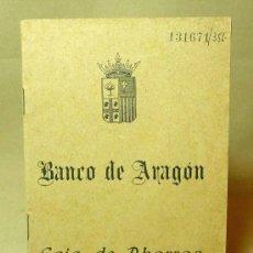 Documentos bancarios: LIBRETA, BANCO DE ARAGON, CAJA DE AHORROS, 1952, VALENCIA. Lote 19203556