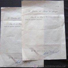 Documentos bancarios: DOS RECIBOS BANCARIOS. FIRMADOS POR -ISAAC PERAL- ENVIO GRATIS¡¡¡. Lote 19517780
