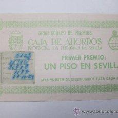 Documentos bancarios: GRAN SORTEO CAJA DE AHORROS PROVINCIAL SEN FERNANDO DE SEVILLA 1969. Lote 26190021