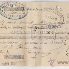 Documentos bancarios: LETRA BANCARIA.- PHILIPS IBERICA / BARCELONA.- ELECTICIDAD TORRES/ TARRAGONA .- AÑO 1930 .- TGN. Lote 20586642