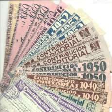 Documentos bancarios: C3-5 BARCELONA RECIBOS DE CONTRIBUCION TERRITORIAL - 22 EJEMPLARES DIFERENTE EN . Lote 20662339
