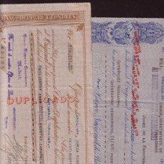 Documentos bancarios: AÑOS 1928 Y 1929 * LOTE DE 2 LETRAS* BOLIVIA Y PERU CON ESPAÑA. Lote 20869004