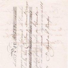 Documentos bancarios: LETRA DE CAMBIO POR 6396 REALES VN. 16 MARAVEDÍS. VALENCIA 1857. PAGADERA EN CASTILLEJOS.. Lote 22354471