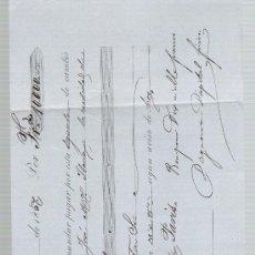 Documentos bancarios: LETRA DE CAMBIO POR 10.000 FRANCOS. SEVILLA 1857. PAGADERA EN PARÍS.. Lote 22354543