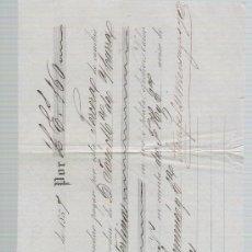 Documentos bancarios: LETRA DE CAMBIO POR 160 LIBRAS ESTERLINAS. SEVILLA 1857. PAGADERA EN LONDRES. MEMBRETE DE STEIN. Lote 22354624