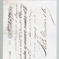 Documentos bancarios: LETRA DE CAMBIO POR 1.399 REALES DE VN. SEVILLA 1853. PAGADERA EN CADIZ.. Lote 22355008