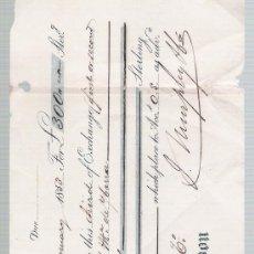 Documentos bancarios: LETRA DE CAMBIO POR 300 LIBRAS ESTERLINAS. SEVILLA 1853. PAGADERA EN LONDRES.. Lote 22355093