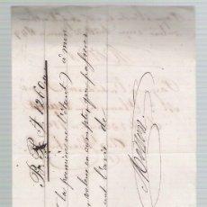 Documentos bancarios: LETRA DE CAMBIO MANUSCRITA POR 1.260 FRANCOS. SEVILLE 23 JANVIER 1849. PAGADERA EN PARÍS.. Lote 22355456