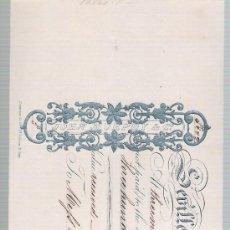 Documentos bancarios: LETRA DE CAMBIO POR 305 LIBRAS ESTERLINAS. SEVILLE 1857. PAGADERA EN LONDRES. MEMBRETE DE JOHN. Lote 22392830