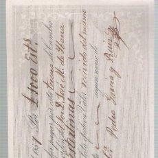 Documentos bancarios: LETRA DE CAMBIO POR 1000 LIBRAS ESTERLINAS. SEVILLA 1857. PAGADERA EN LONDRES.. Lote 22393032