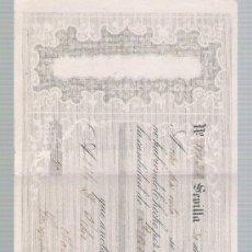 Documentos bancarios: LETRA DE CAMBIO POR 10.000 REALES DE VN. SEVILLA 1857. PAGADERA EN MADRID.. Lote 22393050