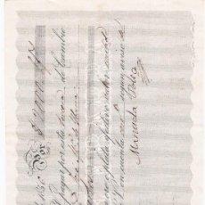 Documentos bancarios: LETRA DE CAMBIO POR 2.000 PESOS FUERTES. SEVILLA 1856. PAGADERA EN LINEA. MEMBRETE DE JOSÉ. Lote 22394919