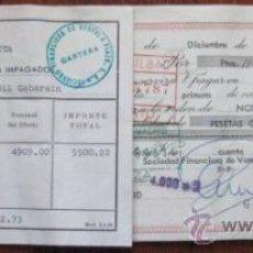 Documentos bancarios: LETRA DE CAMBIO CON PROTESTO. 1972. ENVIO GRATIS¡¡¡. Lote 22528548