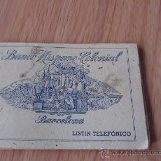 Documentos bancarios: LISTIN BANCO HISPANO COLONIAL. Lote 25337934
