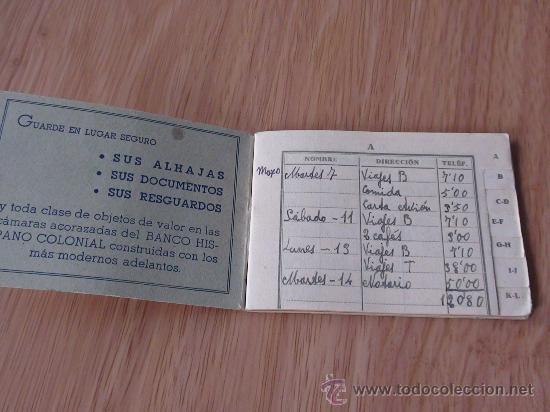 Documentos bancarios: listin banco hispano colonial - Foto 2 - 25337934