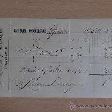 Documentos bancarios: LETRA DE CAMBIO. L. RUIZ Y COMPAÑIA. O`REILLY, 8. HABANA 1896.. Lote 22900227