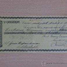 Documentos bancarios: LETRA DE CAMBIO. CARACAS 1917. BANCO CARACAS. COMPAÑIA ANONIMA.. Lote 22900365