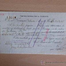 Documentos bancarios: LETRA DE CAMBIO. GUAYAQUIL 1906. BANCO DEL ECUADOR.. Lote 22900955