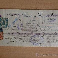 Documentos bancarios: LETRA DE CAMBIO. CUBA 1915. COSIO Y CIA.. Lote 22902390