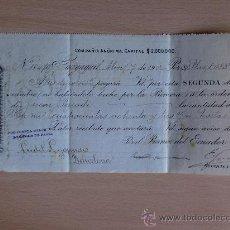 Documentos bancarios: LETRA DE CAMBIO. GUAYAQUIL 1902. BANCO DEL ECUADOR.. Lote 22902603