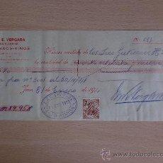 Documentos bancarios: LETRA DE CAMBIO. JEREZ 1911. M. & E. VERGARA COGNACS Y VINOS.. Lote 22902767
