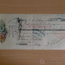 Documentos bancarios: LETRA DE CAMBIO. BORDEAUX 1915. PRODUCTOS FRANCESES. BANCO DE GUIPUZCUA.. Lote 22903323