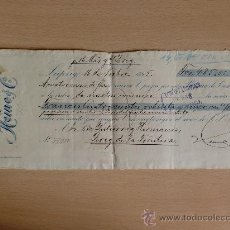 Documentos bancarios: LETRA DE CAMBIO. LEIPXIG 1895. HEINE & CIA.. Lote 22905785