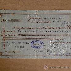 Documentos bancarios: LETRA DE CAMBIO. LIMA 2 MAYO 1927. BANCO DEL PERU Y LONDRES.. Lote 22906346