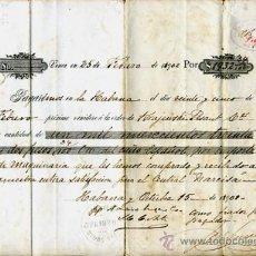 Documentos bancarios: DOCUMENTO PAGARE, TAMAÑO FOLIO, EN ORO ESPAÑOL POR MAQUINARIA ,1901 ,CUBA , G24. Lote 26479190