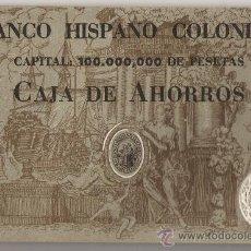Documentos bancarios: LIBRETA **CAJA DE AHORROS DEL BANCO HISPANO COLONIAL --SAN GINES DE VILASAR *AÑO 1950. Lote 23930708