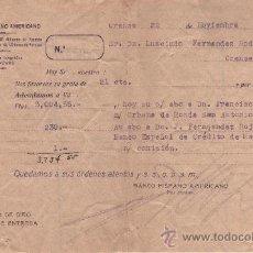 Documentos bancarios: BANCO HISPANO AMERICANO - ADEUDO CARGO TRANSFERENCIA - 22 NOVIEMBRE 1939. Lote 27213190