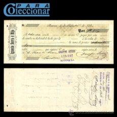 Documentos bancarios: LETRA DE CAMBIO - MANRESA - 1894 - LCPC. Lote 26297801