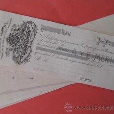 Documentos bancarios: LOTE DE LETRAS CHOCOLATES, CAFES Y TES. COMPAÑIA COLONIAL AÑOS 20-30. ENVIO CERTIFICADO GRATIS¡¡¡. Lote 26801469