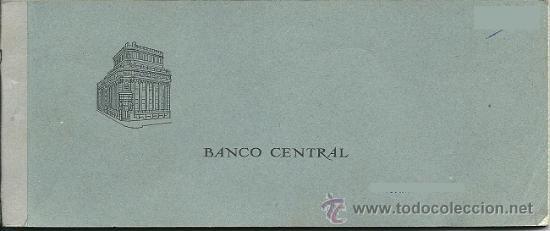 8316 - TALONARIO DE CHEQUES DEL BANCO CENTRAL - SUCURSAL BADALONA AÑO 1968 (Coleccionismo - Documentos - Documentos Bancarios)
