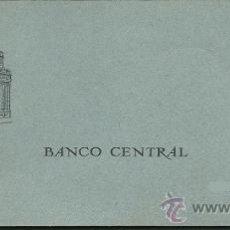 Documentos bancarios: 8316 - TALONARIO DE CHEQUES DEL BANCO CENTRAL - SUCURSAL BADALONA AÑO 1968. Lote 26939645