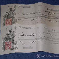 Documentos bancarios: LOTE DE 2 LETRAS DE CAMBIO ANTIGUAS ( NUEVAS SIN USAR ) CLASE 4ª .. Lote 27057858