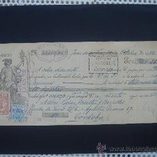 Documentos bancarios: LETRA DE CAMBIO EXPEDIDA EN JEREZ DE LA FRONTERA EL 30-X-1932. DIM.- 29X11,5 CMS.. Lote 27976454