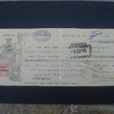 Documentos bancarios: LETRA DE CAMBIO EXPEDIDA EN BOLLULLOS EL 30-III-1932. DIM.- 29X11,5 CMS.. Lote 27981150