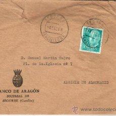 Documentos bancarios: 1968 SOBRE CIRCULADO DEL BANCO DE ARAGON SUCURSAL DE SEGORBE CASTELLON. Lote 28677655
