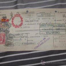 Documentos bancarios: QUEX ANTIGUEDADES DOCUMENTOS LETRAS DE CAMBIO - LETRA DE CAMBIO ESTADO ESPAÑOL 1939. Lote 28703607