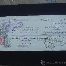 Documentos bancarios: LETRA DE CAMBIO EXPEDIDA EN ZARAGOZA EL 1-V-1934. DIM.- 29X11,750 CMS.. Lote 29006939