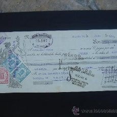 Documentos bancarios: LETRA DE CAMBIO EXPEDIDA EN MURCIA EL 20-VII-1934. DIM.- 29X11,750 CMS. . Lote 29007047