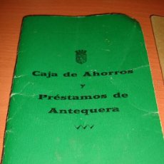 Documentos bancarios: CARTILLA DE CAJA DE AHORROS Y PRESTACIONES DE ANTEQUERA 1979. Lote 29332225