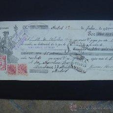 Documentos bancarios: LETRA DE CAMBIO EXPEDIDA EN MADRID EL 12-VII-1934. DIM.- 29X11,750 CMS. EN . IDEAL COLEC. Lote 29564189